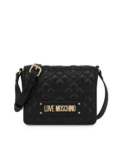 Love Moschino   Kapitoneli Ayarlanabilir Omuz Askılı Çanta Kadın Çanta Jc4002Pp1Cla0000 Siyah